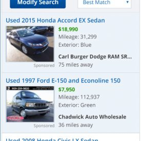KBB - Classifieds Listings - Mobile